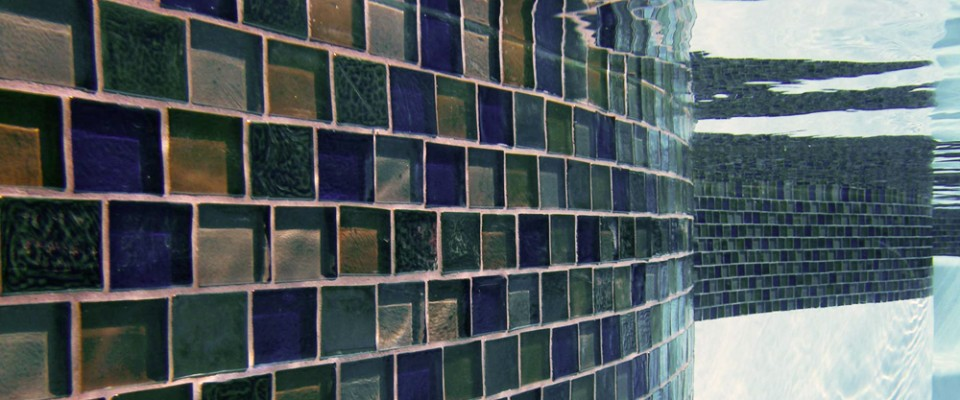 glass mosaic pool tile